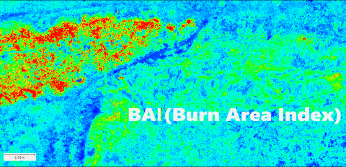 burn area index drone