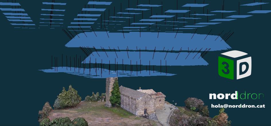 Fotogrametria mapa model 3D dron