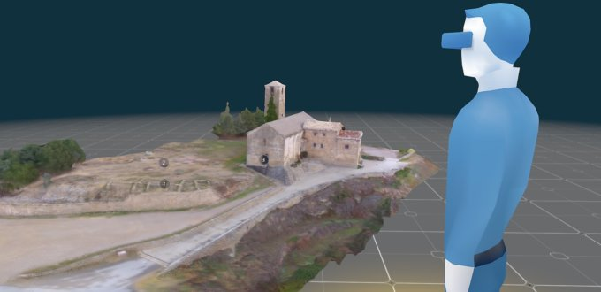 Mapa 3D fotogrametria drone visita virtual