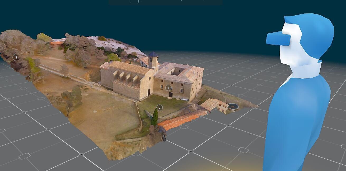 Mapa 3D fotogrametria drone visita virtual Santuari de Lord