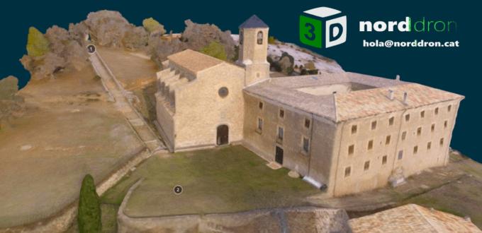 Fotogrametria i model 3D amb dron del Santuari de Lord